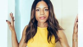 "Naomie Harris - The actress who Miss Moneypenny in the new James Bond movie ""Spectre"" talks in Berlin's KaDeWe Claire Beermann"