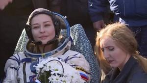 Russisches Filmteam von der ISS zurück