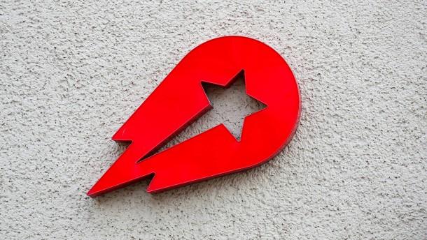 Rakete mit roten Zahlen