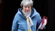 Der nächste schwere Gang: Premierministerin May sieht abermals einer heiklen Abstimmung im britischen Parlament entgegen.