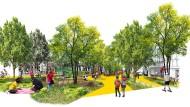 Raum für einen großzügigen Park: Zwei Architektinnen haben eine Idee, wie sich der Alleenring verschönern ließe.