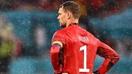 Manuel Neuer im Regen von München gegen Ungarn