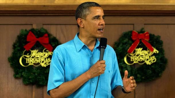 Obama bricht Weihnachtsurlaub ab