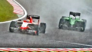 Doch eine Zukunft in der Formel 1? Marussia (l.) und Caterham (r.)