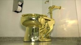 Goldene Toilette gestohlen
