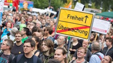 Demonstration gegen Überwachung im August in Berlin
