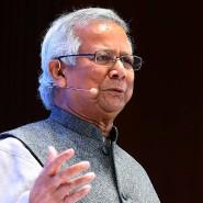 Muhammad Yunus auf der Tech-Konferenz DLD in München.