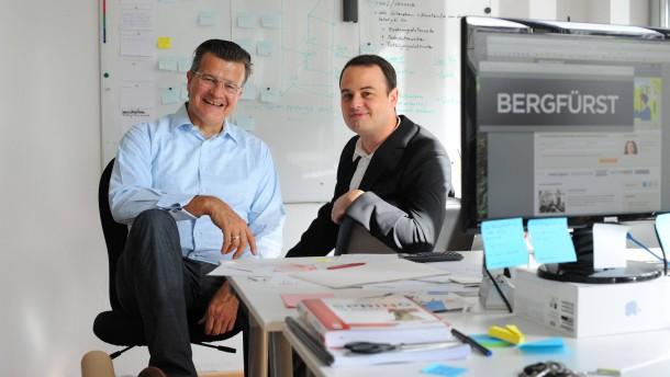 Guido Sandler und Dennis Bemman -  Die beiden Investmentfachleute haben das Unternehmen Bergfürst in Berlin gegründet, um  Crowdinvesting zu betreiben, das heißt über das Internet sollen Anleger für Unternehmensbeteiligungen angesprochen werden
