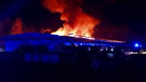 Feuer in Verteilerzentrum der Post in Osthessen