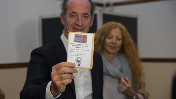 Lombardei und Venetien stimmen für größere Autonomie