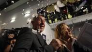 Im Freudentaumel: Der tschechische Politiker und Milliardär Andrej Babiš