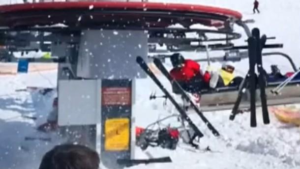 Skilift Rückwärts