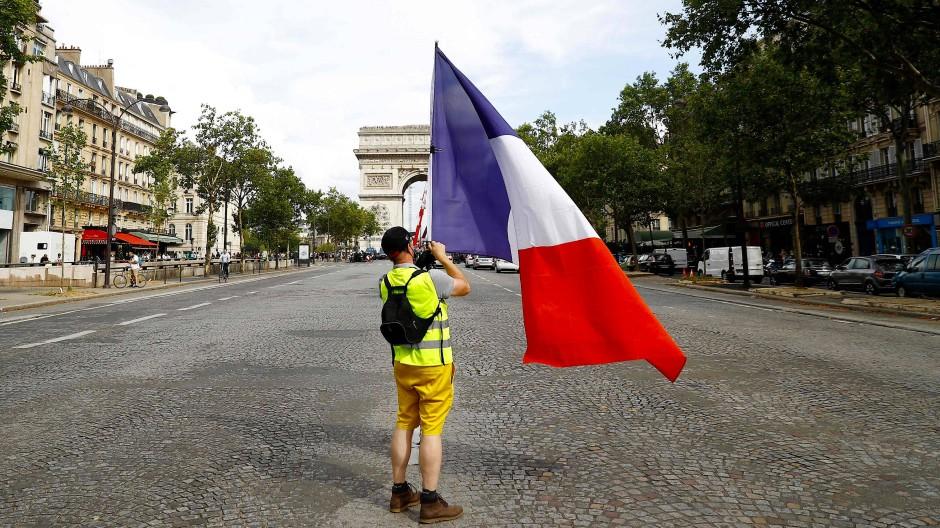 Bremse für den Präsidenten: Die Gelbwesten machten Reformer Macron das Leben schwer.