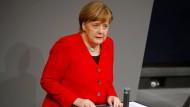 Bundeskanzlerin Angela Merkel (CDU) am Donnerstag im Deutschen Bundestag