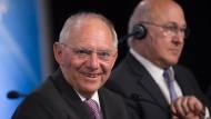 Der deutsche Finanzminister Wolfgang Schäuble und sein französischer Amtskollege Michel Sapin.