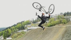Der mit dem Fahrrad fliegt