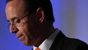 Vize-Justizminister Rosenstein reicht Rücktritt ein