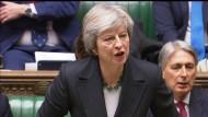 Eine politische Karriere auf der Kippe: Theresa May am Donnerstag im britischen Parlament in London