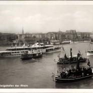 Natürliche Grenze der besetzten Zone: Der Rhein bei Mannheim.