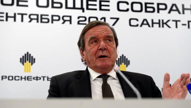 Schröder wird bei Rosneft sogar Aufsichtsratschef