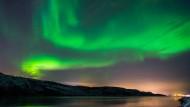 Grünes Spektakel am Himmel über Lappland