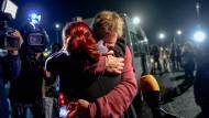 Erleichterung: Der Menschenrechtsaktivist Peter Steudtner nach der Freilassung.