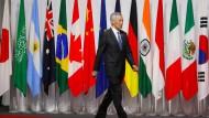 Lee Hsien Loong bewegt sich gern als Vermittler auf internationalem Parkett – hier auf dem G20-Treffen Ende Juni in Japan.