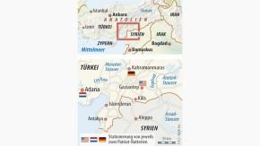 Infografik / Karte / Türkei Syrien Grenze