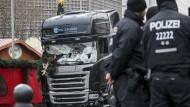 Der Lastwagen, mit dem Anis Amri im Dezember auf dem Berliner Breitscheidplatz zahlreiche Menschen tötete.