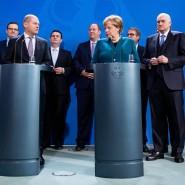 Kanzlerin Merkel und Finanzminister Scholz mit dem Sachverständigenrat im November