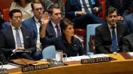 Die UN-Botschafterin der Vereinigten Staaten, Nikki Haley, hatte maßgeblichen Anteil an der Verschärfung der Sanktionen gegen Nordkorea.