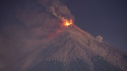 Bilder vom Ausbruch des Feuervulkans
