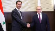 Assad und Putin beraten über politische Lösung
