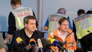 Bayern schickt mehr Polizisten ins Schneechaos