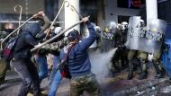 Gewaltsame Bauernproteste in Athen