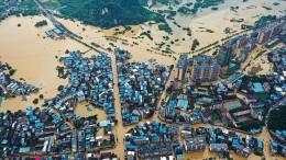 Schwere Überschwemmungen im Osten Chinas