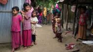 Flüchtingskinder im Camp Leda