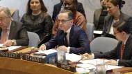 Heiko Maas am Dienstag bei einer Sitzung des UN-Sicherheitsrats