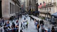 Die New Yorker Wall Street ist gut besucht – aber nicht mehr von Unternehmen