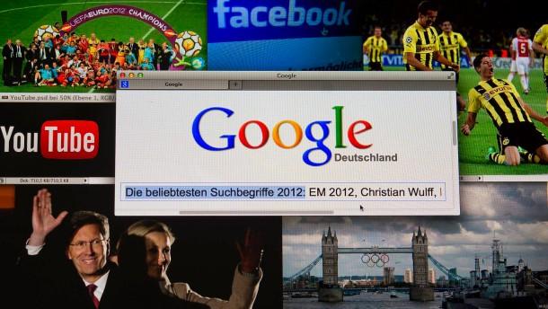 Die beliebtesten Suchbegriffe im Internet 2012