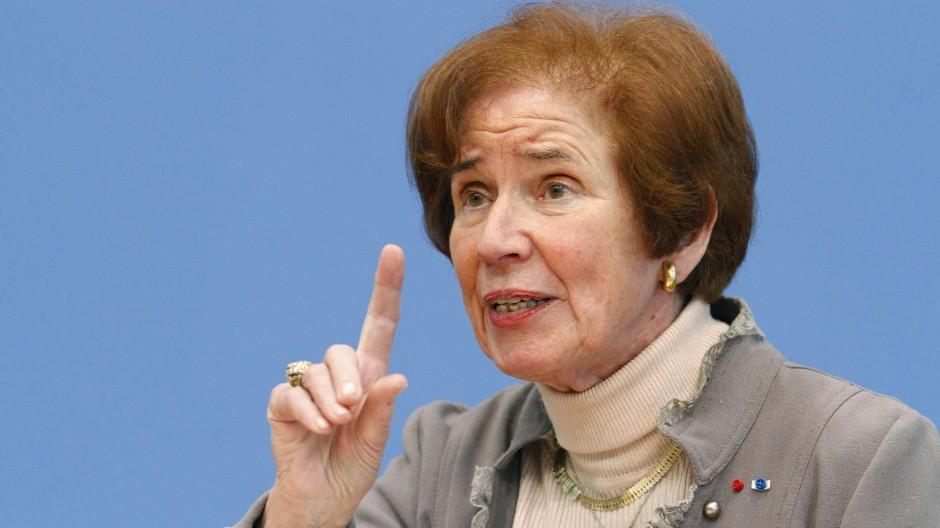"""Die Kandidatin der Partei """"Die Linke"""", Beate Klarsfeld"""