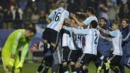 Argentinien gewinnt Viertelfinale im Elfmeterschießen