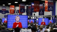 Das erste Duell zwischen Clinton und Trump