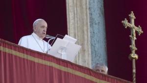 Papst fordert friedliches Miteinander in der Welt