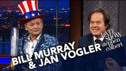 """Bill Murray und Jan Vogler in """"The Late Show"""""""