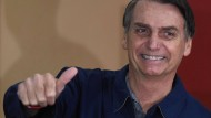 Unverhohlene Drohungen mit Säuberungen: der rechtspopulistische Kandidat für die Präsidentenwahl in Brasilien Jair Bolsonaro