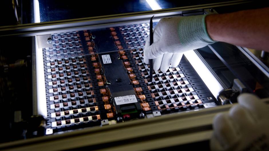 Produktion der Batteriezelle für ein Elektroauto