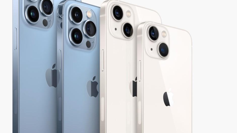 iPhone 13 Pro Max, iPhone 13 Pro, iPhone 13 und iPhone 13 Mini