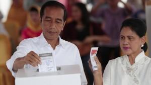 Präsident Joko Widodo vor klarem Wahlsieg
