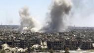 Damaskus am Dienstag: Nach Zahlen der Vereinten Nationen sind nach mittlerweile mehr als sieben Jahren Bürgerkrieg rund 13 Millionen Syrer auf humanitäre Hilfe angewiesen.